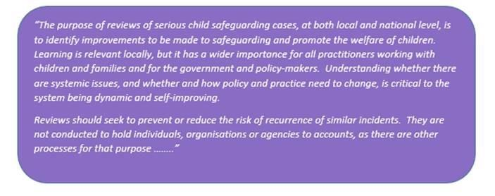 Child Safeguarding Practice Reviews